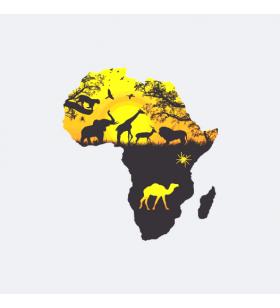 NAKLEJKA NA ŚCIANĘ AFRYKA